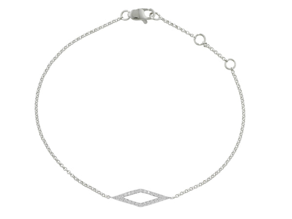 9ct White Gold Diamond Geo Bracelet, 0.21ct