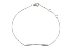 9ct White Gold Diamond Bar Geo Bracelet, 0.19ct