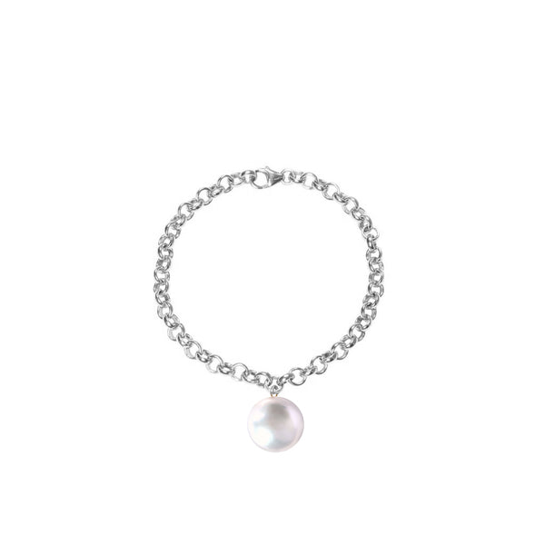 Sterling Silver Magna White Pearl Bracelet