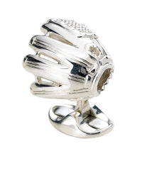 Silver Baseball Glove Cufflinks
