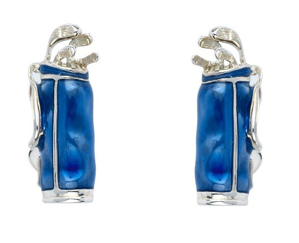Blue Golf Bag Cufflinks