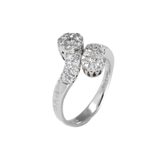 18ct White Gold Diamond Cluster Ring, 0.81ct