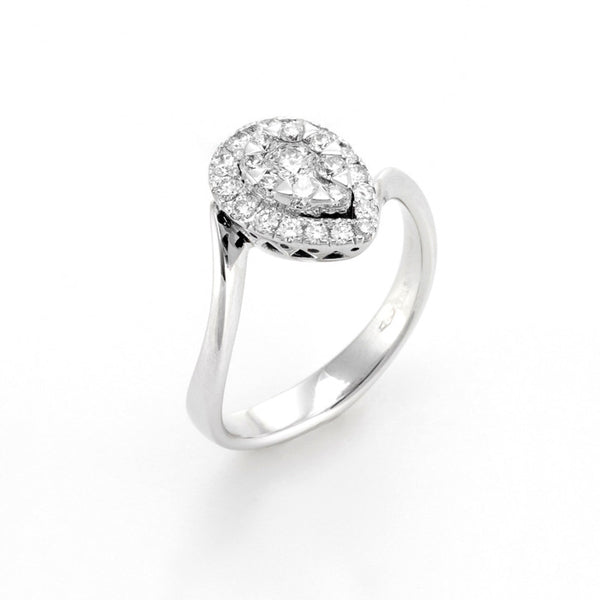 18ct White Gold Diamond Ring, 0.47ct