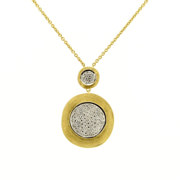 18ct Yellow Gold Pave Diamond Pendant, 0.59ct