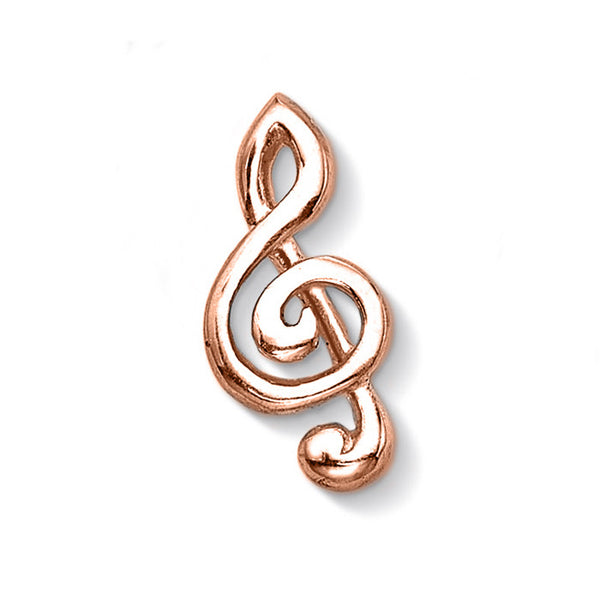 18ct Rose Gold Vermeil Treble Clef Treasure
