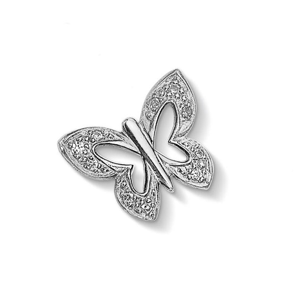 Sterling Silver Pave Butterfly Treasure