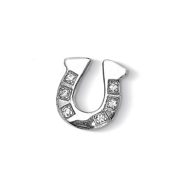 Sterling Silver Pave Horseshoe Treasure