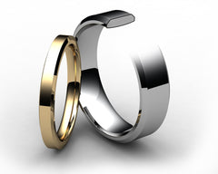 Chamfered Edge Wedding Ring