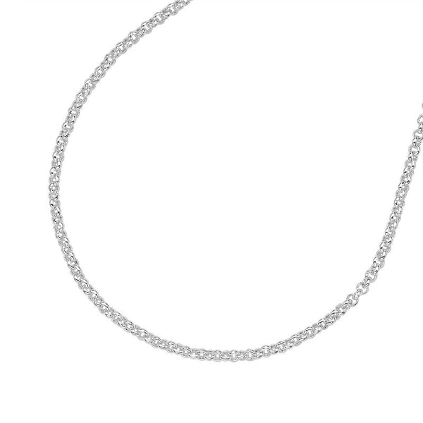 "Sterling Silver Round Belcher Necklace Chain (16""-20"")"