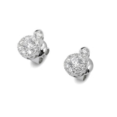 18ct White Gold Diamond Cluster Stud Earrings, 0.65ct