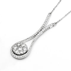18ct White Gold Diamond Pendant, 0.79ct