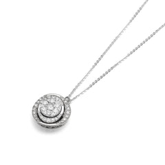 18ct White Gold Diamond Pendant, 0.75ct