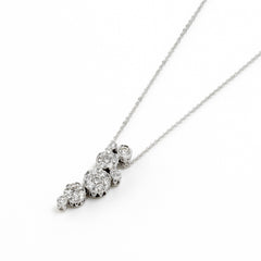 18ct White Gold Diamond Pendant, 0.60ct