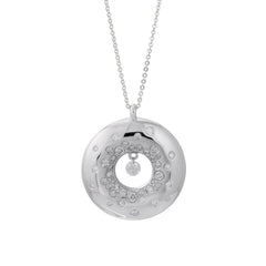 18ct White Gold & Diamond Pendant, 0.75ct