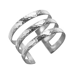 Sterling Silver 40mm Triple Bar Nomad Cuff