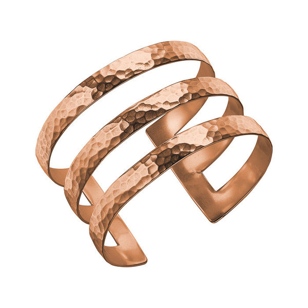 18ct Rose Gold Vermeil 40mm Triple Bar Nomad Cuff