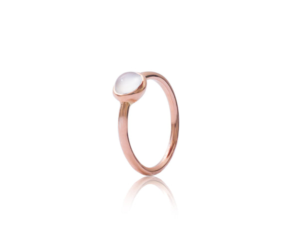 9ct Rose Gold Moonstone Bubble Stacking Ring