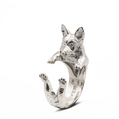 Welsh Corgi Pembroke Hug Ring