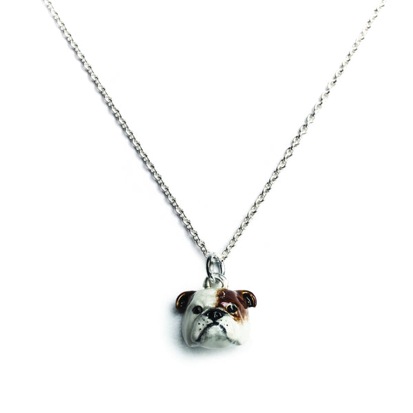 English Bulldog Head Pendant