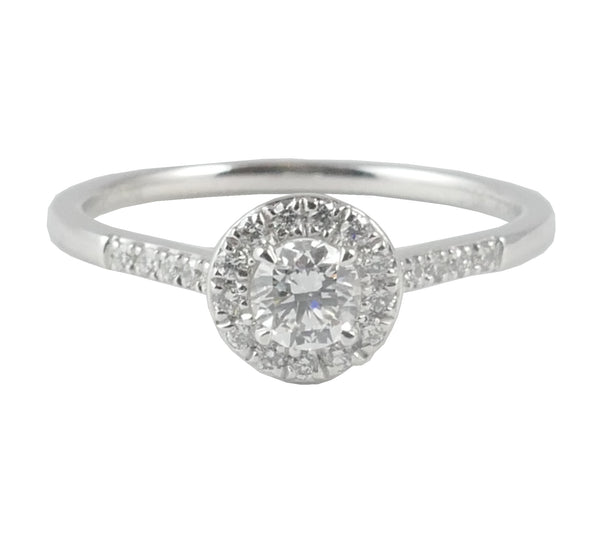 18ct White Gold Diamond Cluster Ring, 0.38ct
