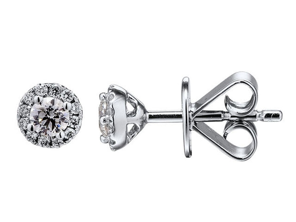 18ct White Gold Diamond Stud Earrings, 0.22ct