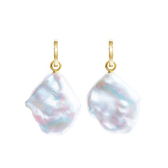 Aurelia Flat Baroque Drop Earrings