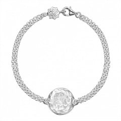 Sterling Silver Engravable Disc Bracelet
