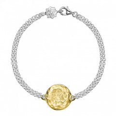 18ct Gold Vermeil & Sterling Silver Engravable Disc Bracelet