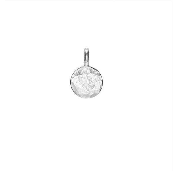 Sterling Silver Engravable Small Disc Pendant