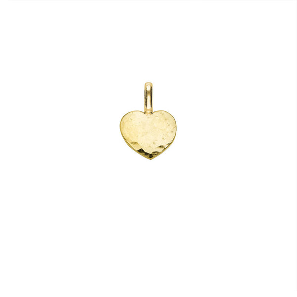 18ct Yellow Gold Vermeil Engravable Small Heart Pendant