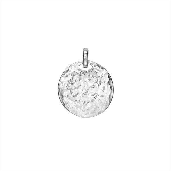 Sterling Silver Engravable Large Disc Pendant
