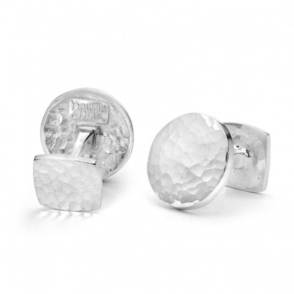 Sterling Silver Round Engravable Cufflinks