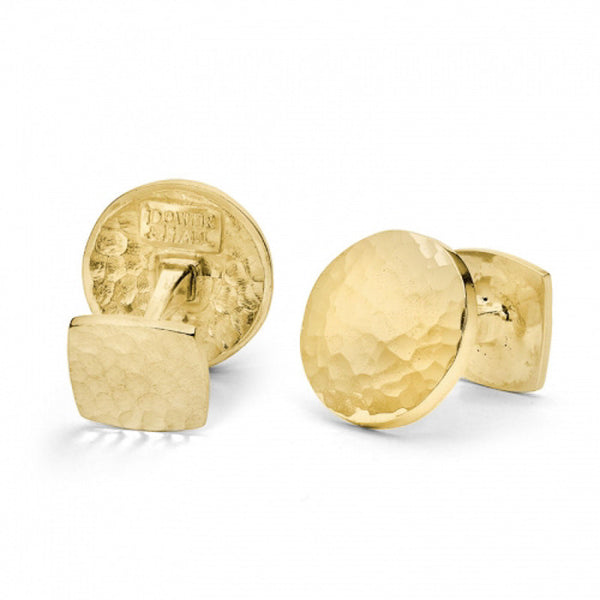 18ct Gold Vermeil Round Engravable Cufflinks