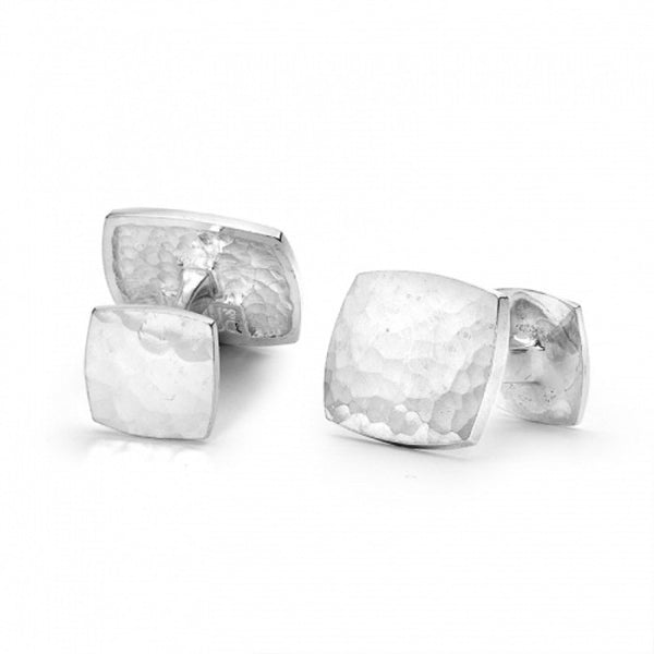 Sterling Silver Rectangular Engravable Cufflinks