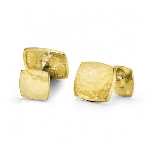 18ct Gold Vermeil Rectangular Engravable Cufflinks