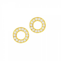 9ct Yellow Gold Diamond Set Meridian Stud Earrings, 0.15ct
