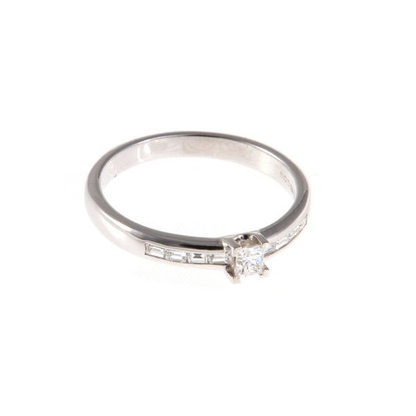 18ct White Gold Diamond Engagement Ring, 0.34ct