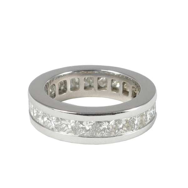 18ct White Gold Princess Cut Diamond Eternity Ring, 4.18cts