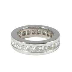 Platinum Princess Cut Diamond Eternity Ring, 4.18cts