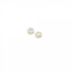 9ct Yellow Gold Diamond Raindrop Stud Earrings, 0.04ct