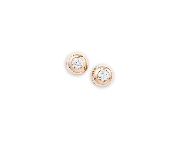9ct Rose Gold Diamond Stud Earrings, 0.12ct
