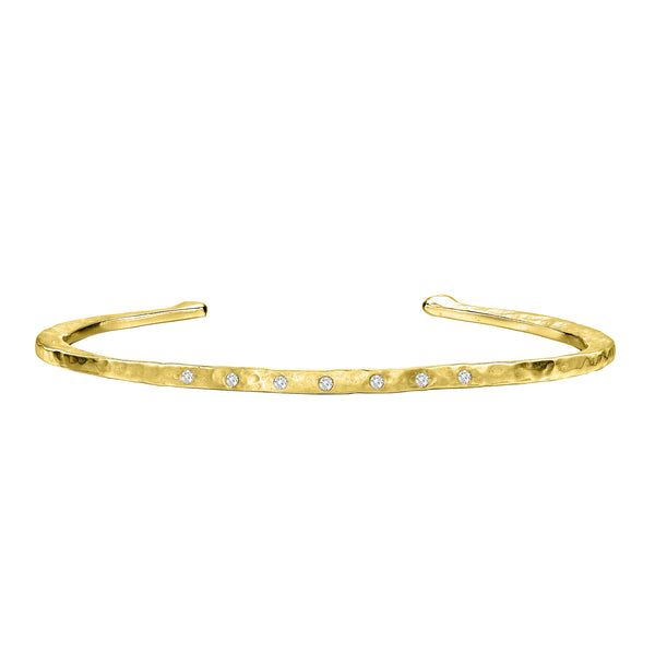 9ct Gold Eternal Diamond Bangle, 0.10ct