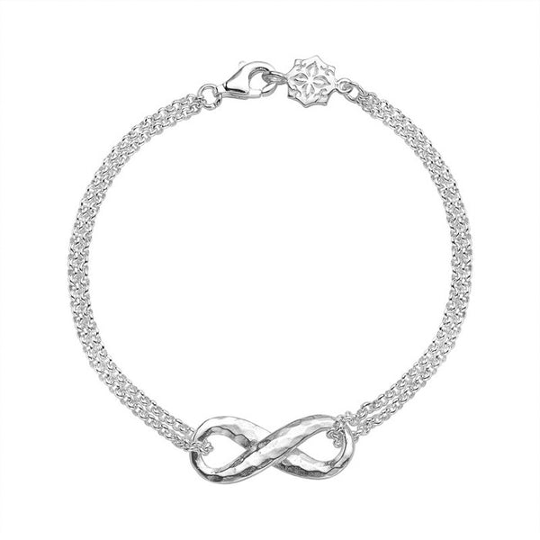 Sterling Silver Entwined Infinity Bracelet