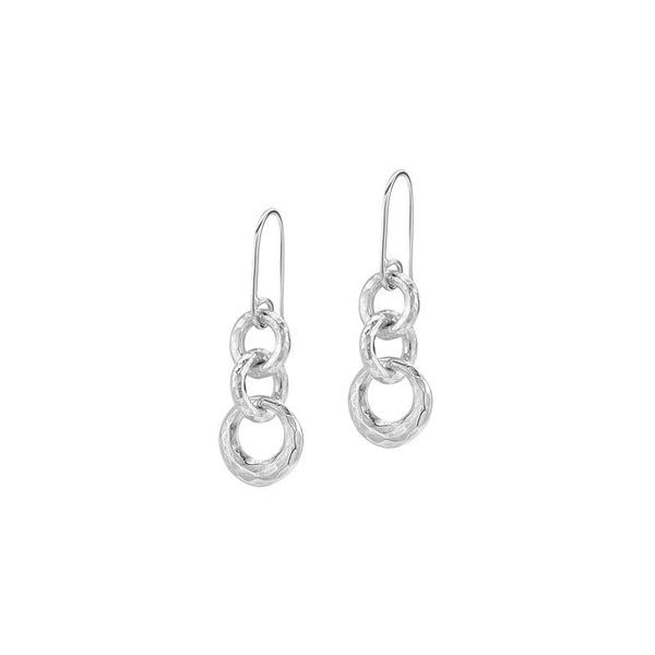 Sterling Silver Entwined Triple Circle Earrings