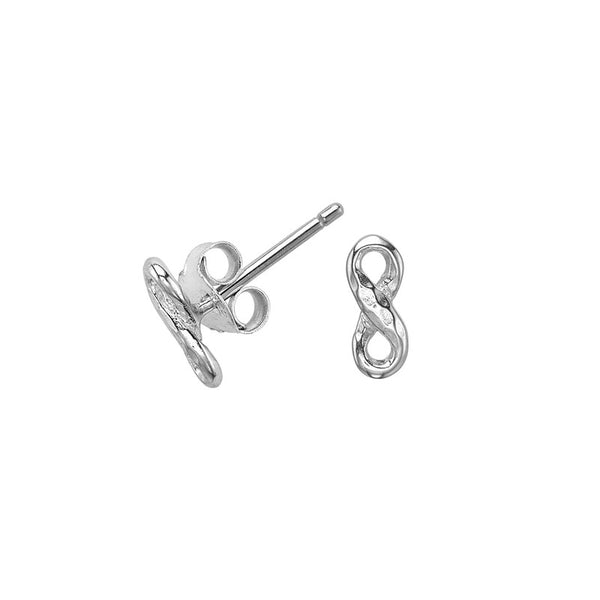 Sterling Silver Entwined Infinity Stud Earrings