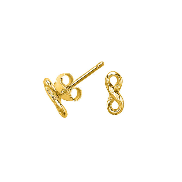 18ct Gold Vermeil Entwined Infinity Stud Earrings