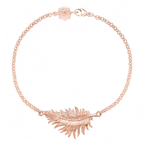 18ct Rose Gold Vermeil Feather Bracelet