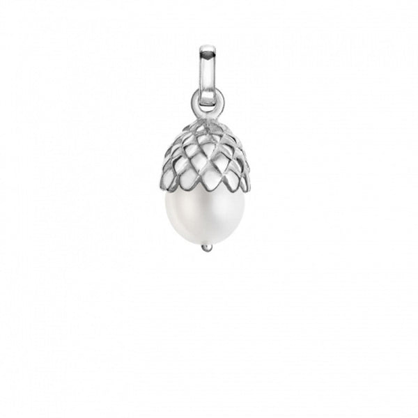Sterling Silver White Pearly Acorn Charm