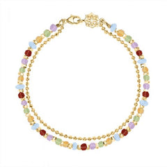 18ct Yellow Gold Vermeil Rainbow Bead Orissa Bracelet
