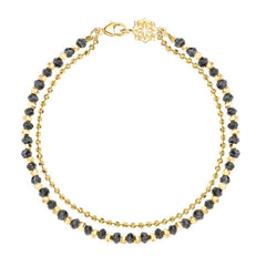 18ct Gold Vermeil & Black Spinel Bead Orissa Bracelet